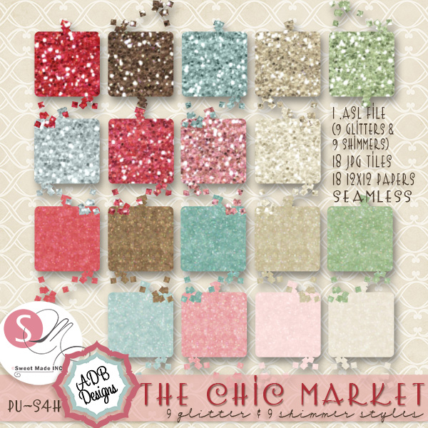 The Chic Market Glitter Styles & Papers