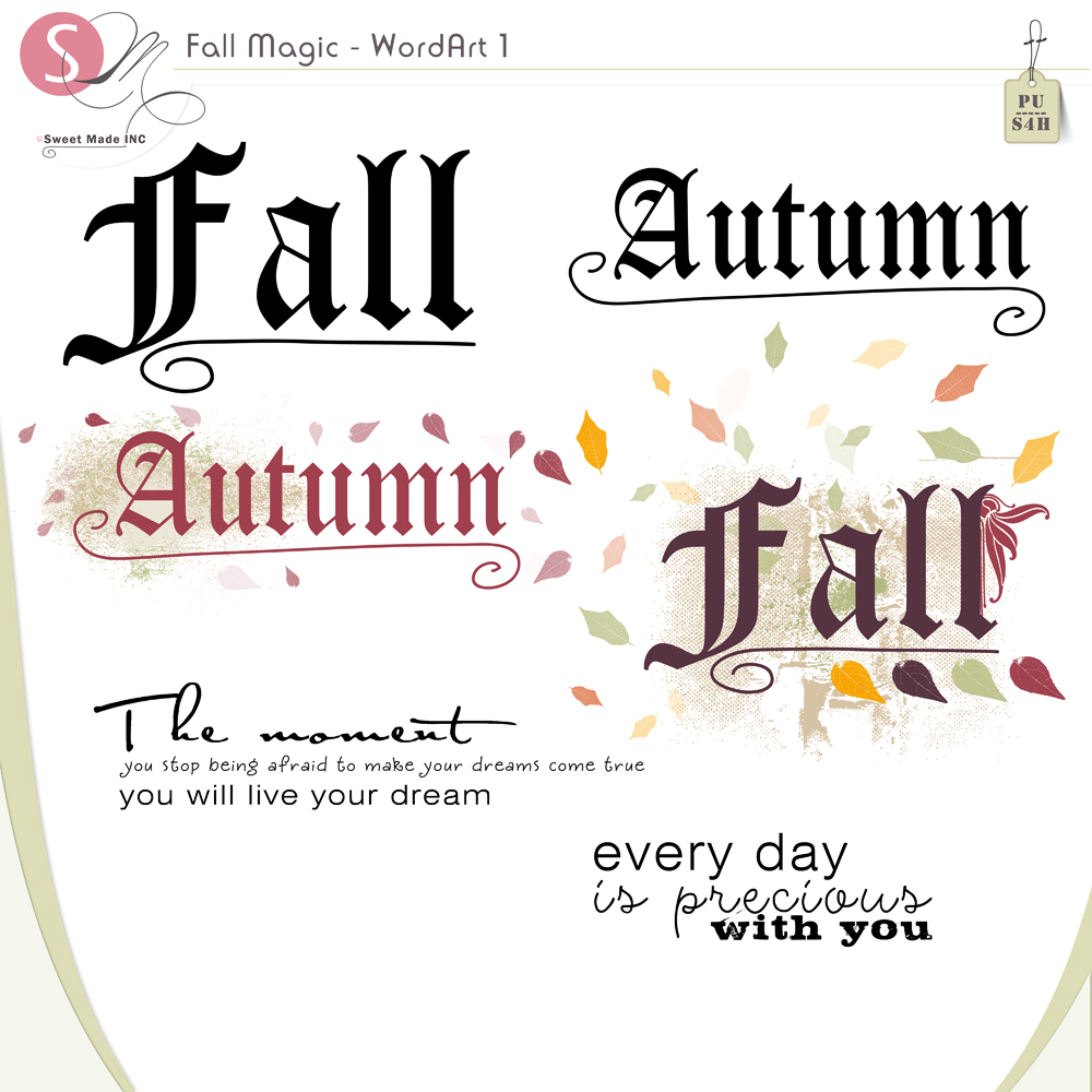 Fall Magic Word Art