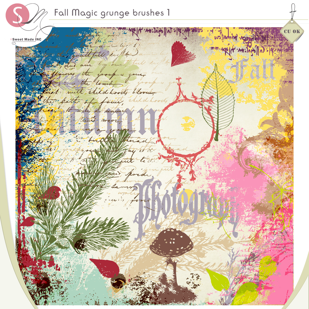 Fall Magic Grunge brushes 1