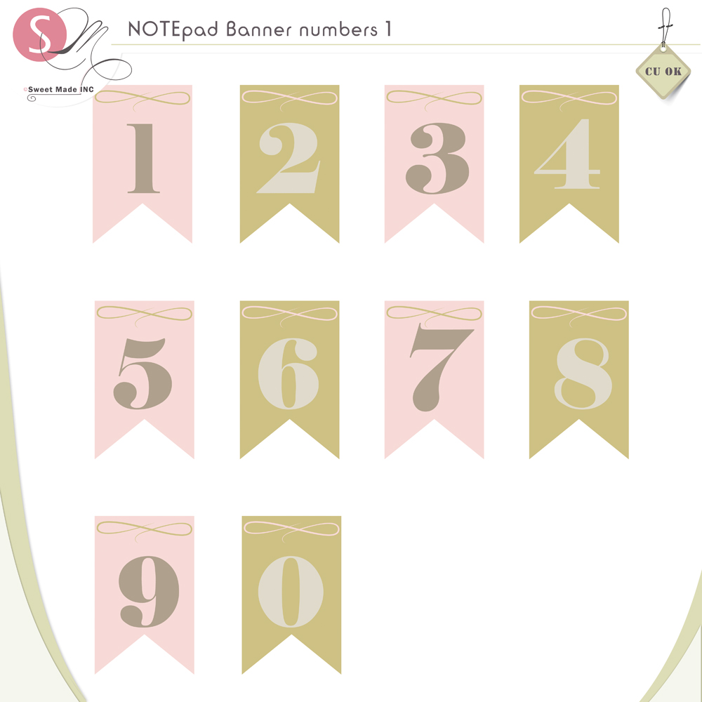 NOTEpad Banner Numbers 1