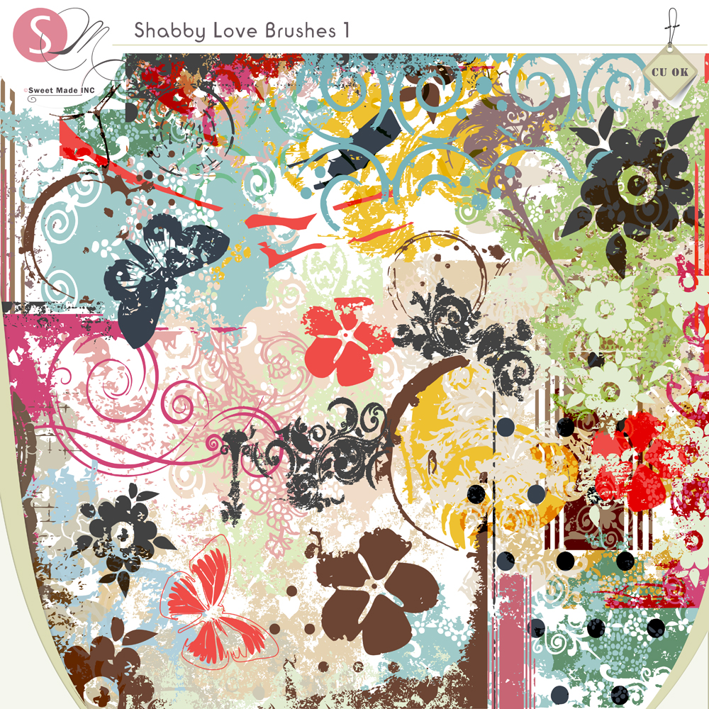 Shabby Love Brushes 1